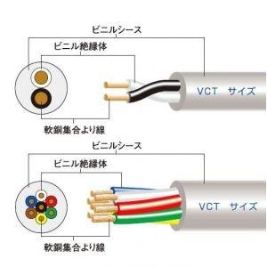 オーナンバ VCT22sq×4心 90m 1巻 600V VCT 22sq 4心 ビニル絶縁キャブタイヤケーブル