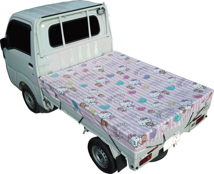 買い物 かわいいハローキティ柄 HelloKitty ハローキティ 軽トラックシート KTS-10 今ダケ送料無料 極厚ターポリン生地使用 ピンク