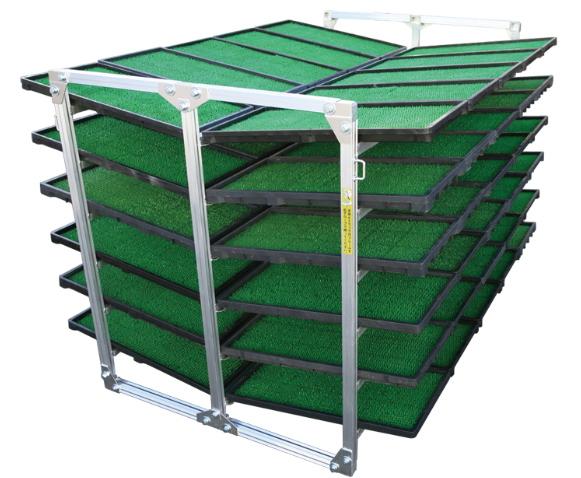 超特価SALE開催! *法人様・個人事業主様限定商品アルインコ(ALINCO) NC-60K(6段積) [メーカー直送]:ハンシン RK-10ショップ 苗箱収納棚-ガーデニング・農業