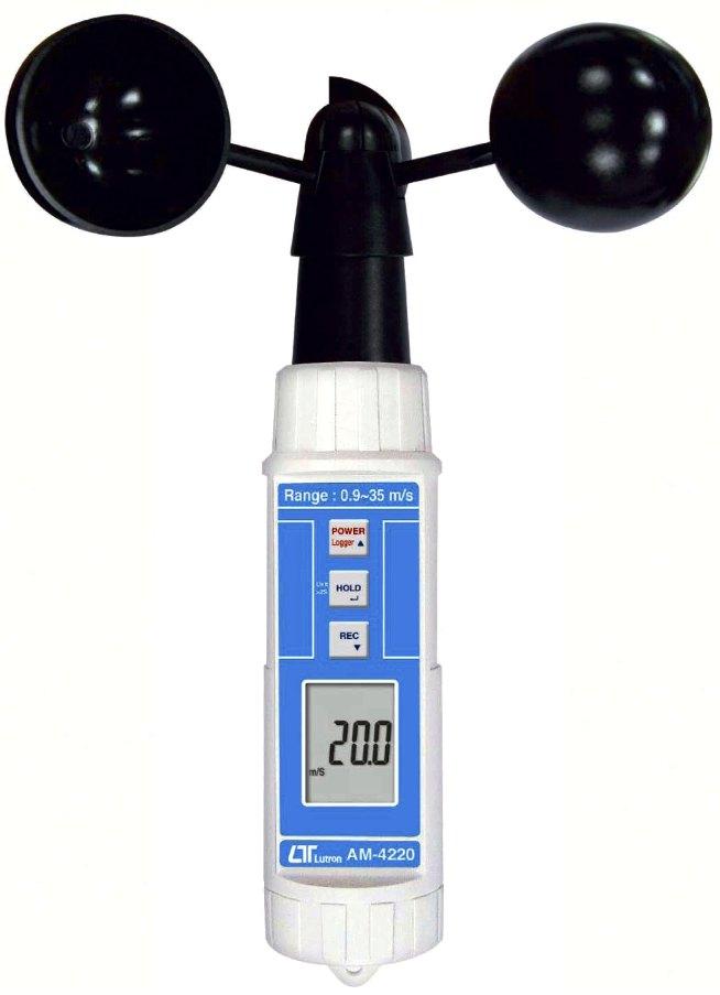 マザーツールデジタルハンディ風杯式風速計【AM-4220】