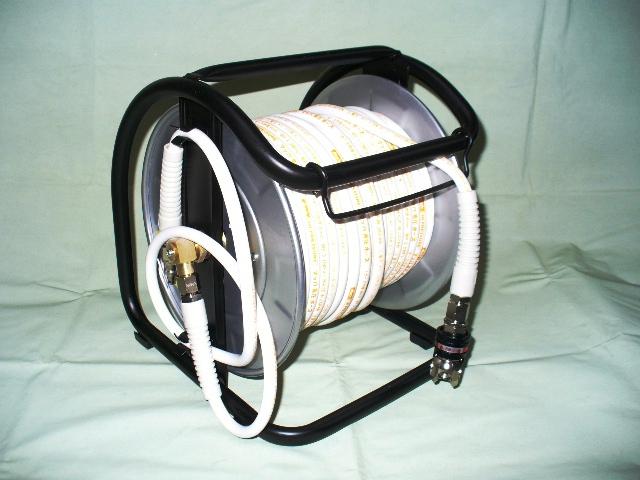 送料込■Mach 高圧用エアードラム スイングカプラー付き 6φ30m WHDAL-630C