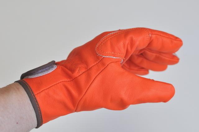 国産高級吟皮手袋 オレンジレインジャーPH-36 OR 10双組