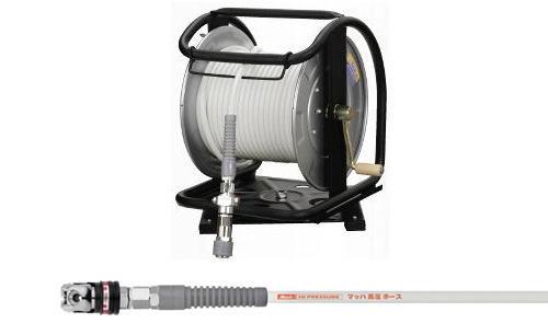 [マッハMach]フジマック 高圧用C型ドラム スムージーホース スウィングカプラ付 WHDAL-630C