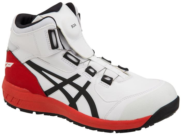 新作asicsアシックス作業用靴 ウィンジョブCP304 Boa 100(1271A030) ホワイト×ブラック