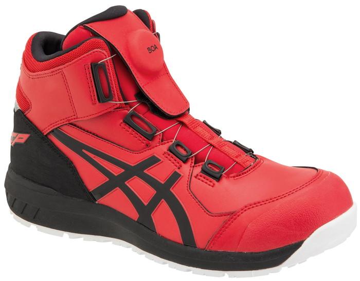 新作asicsアシックス作業用靴 ウィンジョブCP304 Boa 600(1271A030) クラシックレッド×ブラック