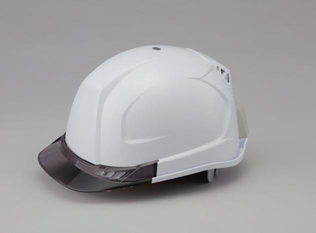 送料込■トーヨーセフティー 送風機内蔵ヘルメット No.395F-S(ひさし色スモーク) 白 TOYO SAFETY WindyHelmet