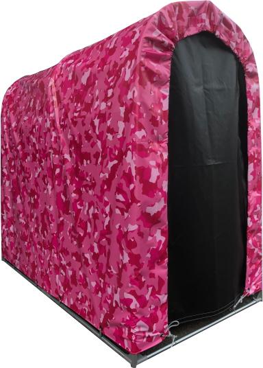 [法人様宛は送料無料(送料区分E)]■迷彩柄サイクルハウス2台用SN3PIGRTFR 迷彩ピンク