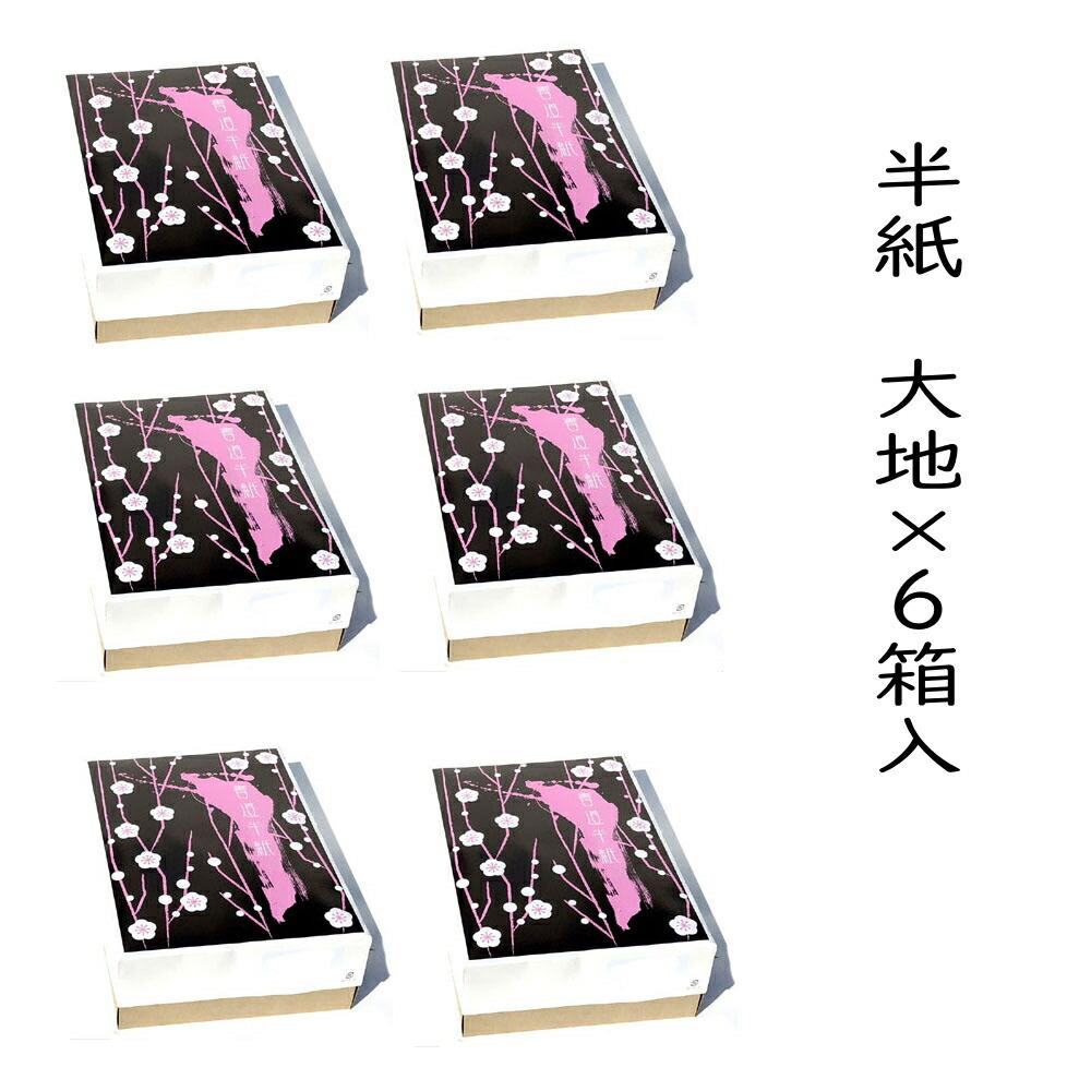 書道半紙 大地1000枚×6箱 自然色 さらにポイント20倍!