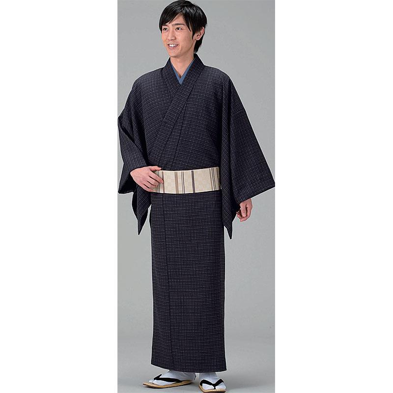 江戸の粋!【小紋】紳士物【男物】お仕立て上がり着物・長着、茶系
