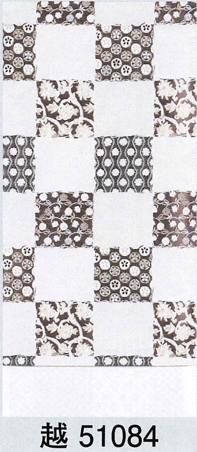 【洗える】京袋帯、白地、市松