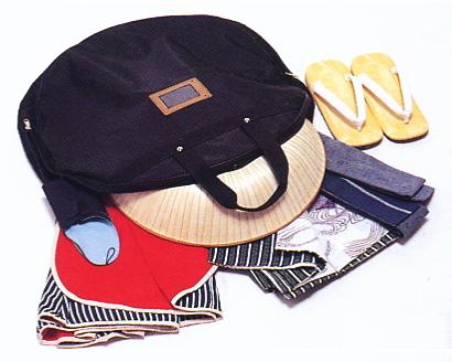 三度笠用バッグ、三度笠かばん、股旅衣装かばん【メール便×】