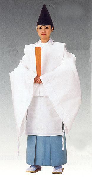 狩衣(かりぎぬ)|平安時代コスチューム|神官衣裳~ シンプル 無地 【日本舞踊】 【時代衣裳束】 【時代装束】 白・地紋・鶴