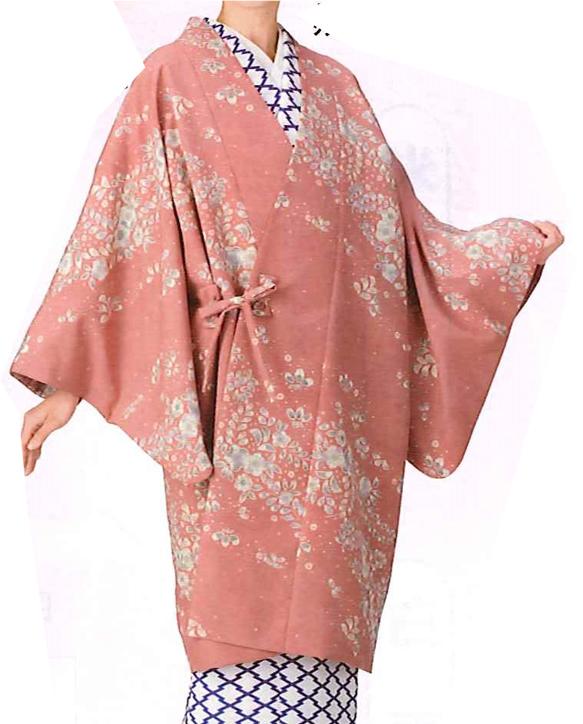 春色コート【着物・和装おしゃれコート】Fサイズ|ピンク、花柄(袷)(仕立て上り)