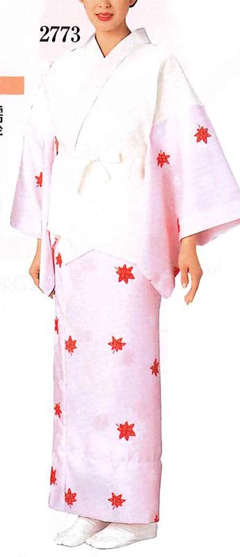 【半襦袢セット】綸子友禅柄 ピンク <バチ衿> 半襦袢と裾よけ