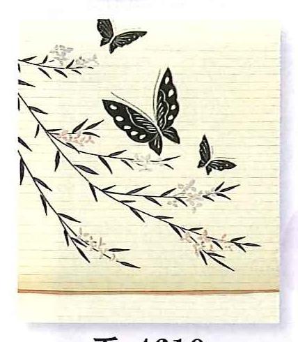 夏帯【手描き】【夏名古屋】絽(ポリエステル)【柳】【蝶】