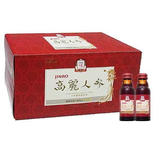 韓国飲み物 お歳暮 栄養ドリンク 人参 元気参 箱売 JINRO 1箱=送料1個口 税込 100mlx1箱 1本当り¥160.92 即納最大半額 50本=小5箱 高麗人参ドリンク