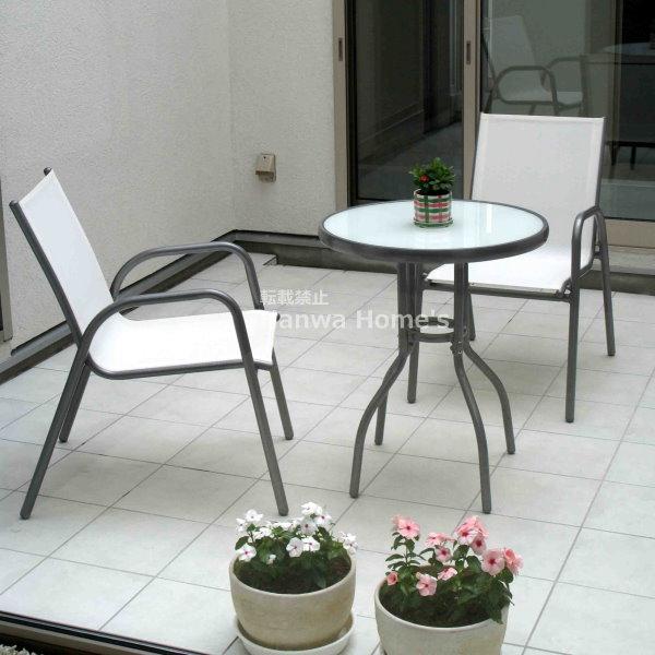 「フレスコ ガラステーブル3点セット/ガーデンファニチャーセット」/ガーデンファニチャー/ガーデンテーブル/ガーデン テーブル/RCP/05P03Sep16/【HLS_DU】