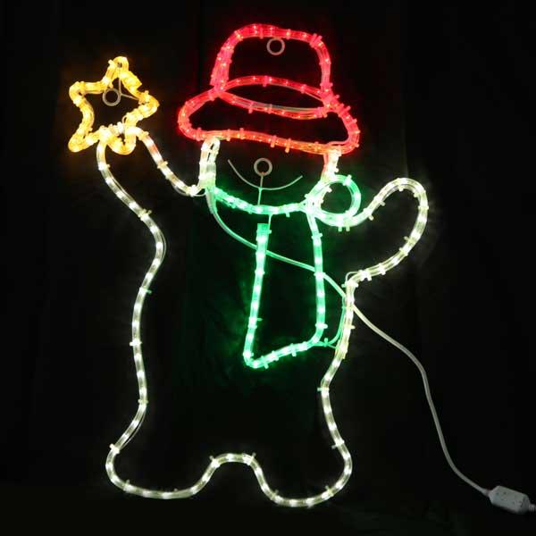 LEDイルミネーション/2Dモチーフライト LEDスノーマン&スター/イルミネーション/クリスマス/LED/コロナ産業/RCP/05P03Sep16/【HLS_DU】