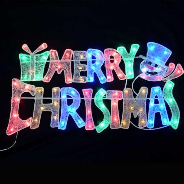 LEDイルミネーション/2Dモチーフライト LEDカラフルメリークリスマス/イルミネーション/クリスマス/LED/コロナ産業/RCP/05P03Sep16/【HLS_DU】