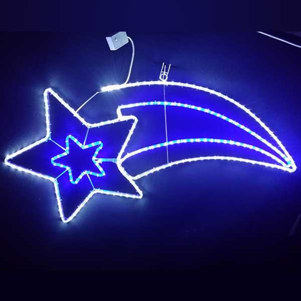 LEDイルミネーション/LEDスターライトモチーフ/LED流れ星 白・青色/イルミネーション/クリスマス/チューブライト/送料無料/コロナ産業/RCP/05P03Sep16/【HLS_DU】