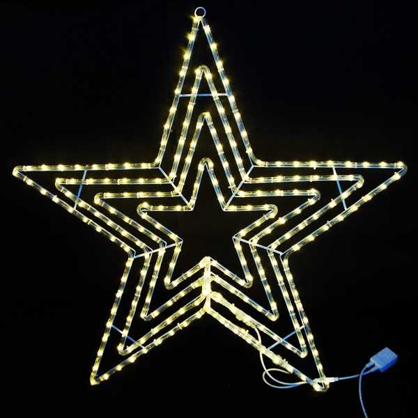 LEDイルミネーション/LEDスターライトモチーフ/LEDビッグスター電球色/イルミネーション/送料無料/クリスマス/チューブライト/コロナ産業/RCP/05P03Sep16/【HLS_DU】