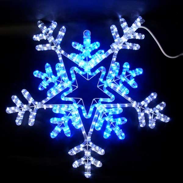 LEDイルミネーション/2Dモチーフライト スノーフレーク白・青色/イルミネーション/クリスマス/LED/コロナ産業/RCP/05P03Sep16/【HLS_DU】