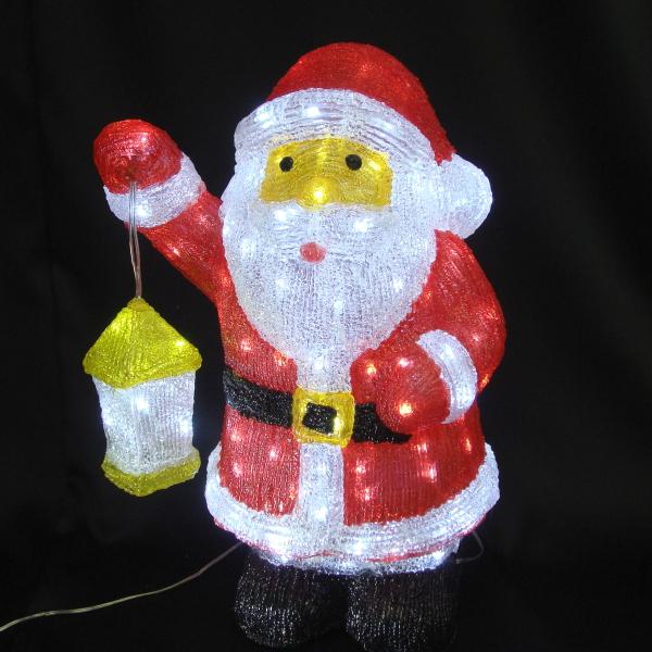 LEDイルミネーション/3Dモチーフライト LEDアクリル サンタ/イルミネーション/ledイルミネーション/クリスマス/サンタクロース/LED/コロナ産業/RCP/05P03Sep16/【HLS_DU】