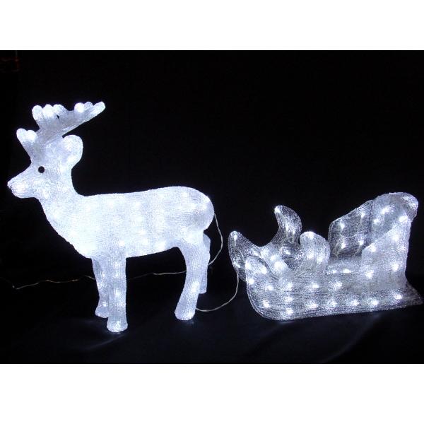 LEDイルミネーション/3Dモチーフライト LEDアクリル トナカイ&ソリ/イルミネーション/クリスマス/送料無料/LED/コロナ産業/RCP/05P03Sep16/【HLS_DU】