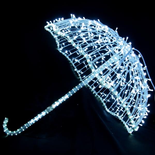 ledイルミネーション/3Dモチーフライト アンブレラ/イルミネーション 送料無料/LED ホワイト/コロナ産業/クリスマス/RCP/05P03Sep16/【HLS_DU】
