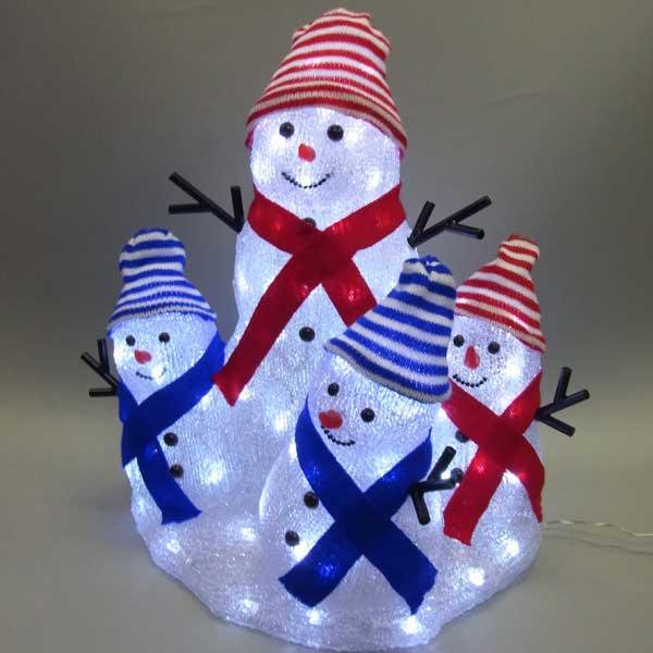 LEDイルミネーション/3Dスノーマンモチーフ/ LEDスノーマンファミリー/イルミネーション/クリスマス/スノーマン/LED/コロナ産業/RCP/05P03Sep16/【HLS_DU】