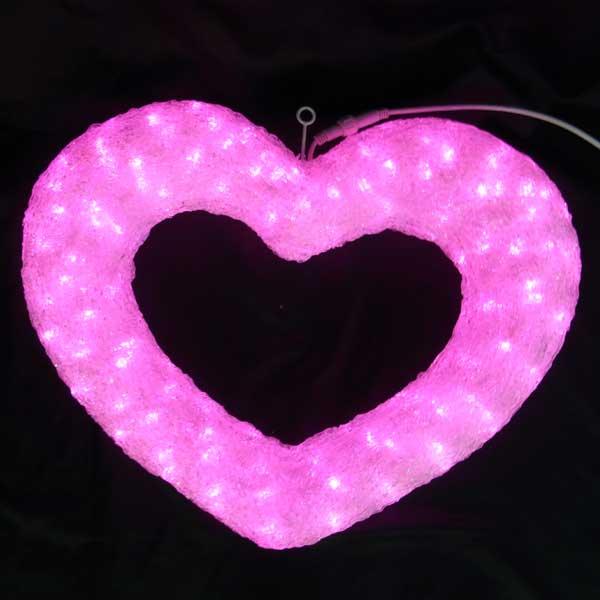 LEDイルミネーション/3Dモチーフライト クリスタルハート2/イルミネーション/送料無料/クリスマス/LED ピンク/コロナ産業/RCP/05P03Sep16/【HLS_DU】