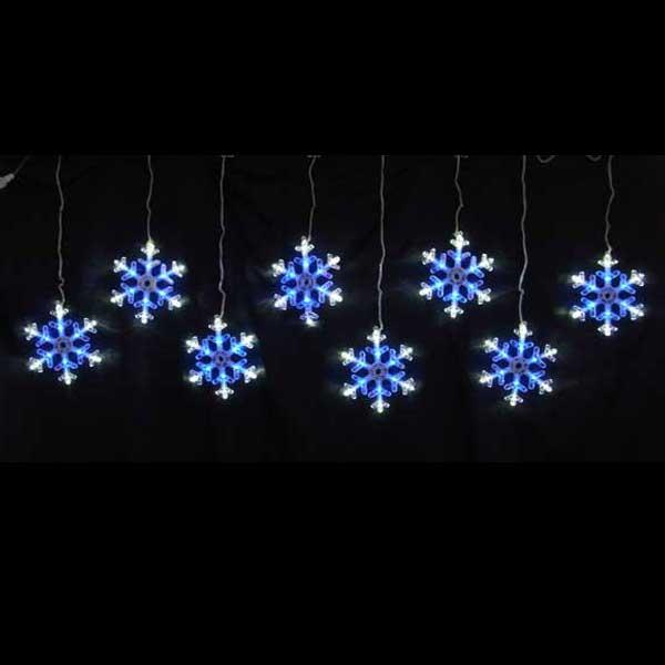 LEDイルミネーション/スノーフレーク/LEDスノーフレークつらら 白&青色8連/イルミネーション/クリスマス/チューブライト/コロナ産業/RCP/05P03Sep16/【HLS_DU】