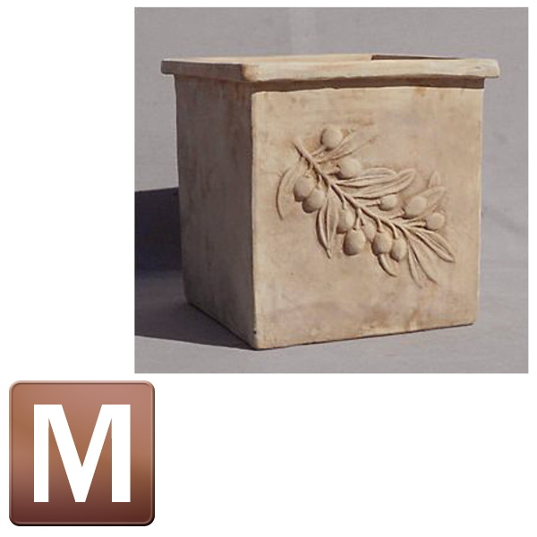 テラコッタ製植木鉢/オリーブ スクエアーアンティコ Mサイズ/B-1/RCP/05P03Sep16/【HLS_DU】