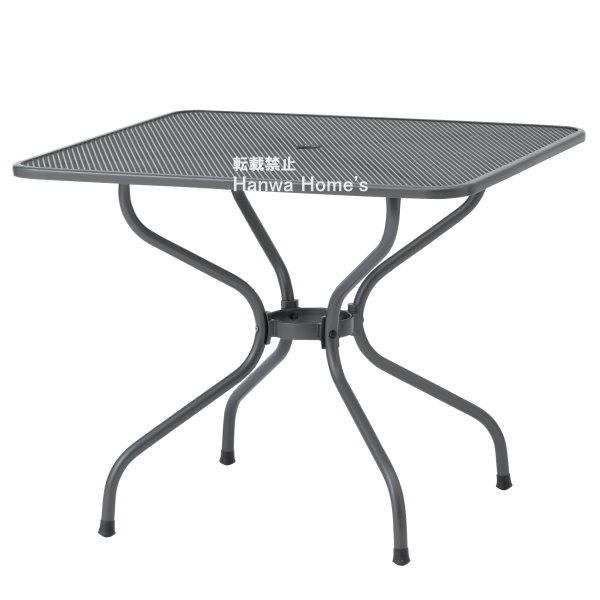 【送料無料】《ガーデンファニチャー/ガーデンテーブル》 ガーデン テーブル  メタルワーク メタルスクエアテーブル 900/ガーデンテーブル/スチール製/ガーデン テーブル/RCP/05P03Dec16/【HLS_DU】