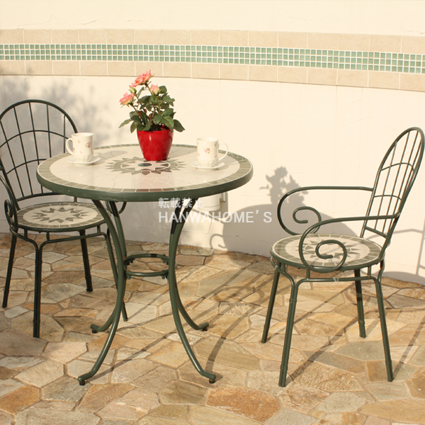 Early Booking Early In Stock Plan / Tangier Mosaic Table 3 Point Set Matt  Green / Garden Fnicharset / Garden Table Set / Garden Table / Assisting /  Cafe ...