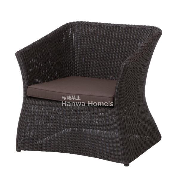 庭座 シングルソファ/専用シートパッド・クッション1個付/RCP/05P03Dec16/【HLS_DU】