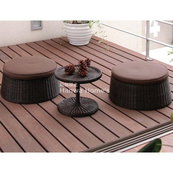 庭座 エンザサイドテーブル3点セット/RCP/05P03Dec16/【HLS_DU】