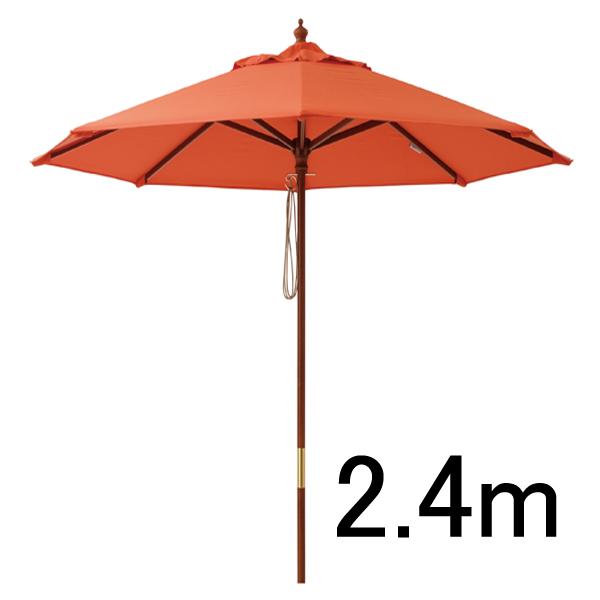マーケットパラソル 2.4m ビビットオレンジ/日よけ/パラソル/RCP/05P03Dec16/【HLS_DU】
