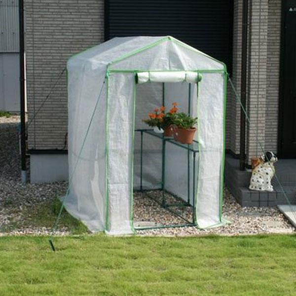 温室 ビニール/ビニール温室 大きな温室ビッググリーン ビニールハウス フラワースタンド 大型温室/RCP