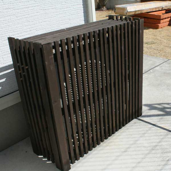 木製室外機カバー 折りたたみ木製室外機カバー 日本メーカー新品 目隠し 室外機カバー HLS_DU 05P03Sep16 高品質新品 RCP