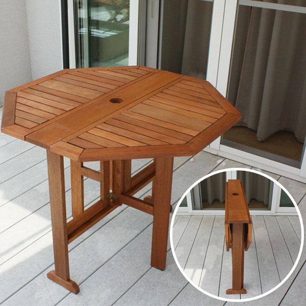 木製フォールディングテーブル/ ガーデンファニチャー ガーデンテーブル 折りたたみ tennnen/RCP/05P03Sep16/【HLS_DU】