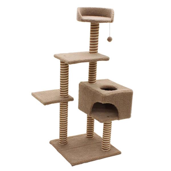 キャットタワー ベイス/猫タワー ペット用品 犬猫用品 おしゃれ 据え置き型