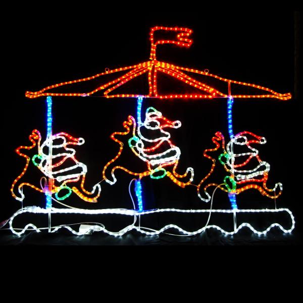 LEDイルミネーション/2Dモチーフライト LEDメリーゴーランド/イルミネーション/クリスマス/サンタクロース/トナカイ/コロナ産業/RCP/05P03Sep16/【HLS_DU】