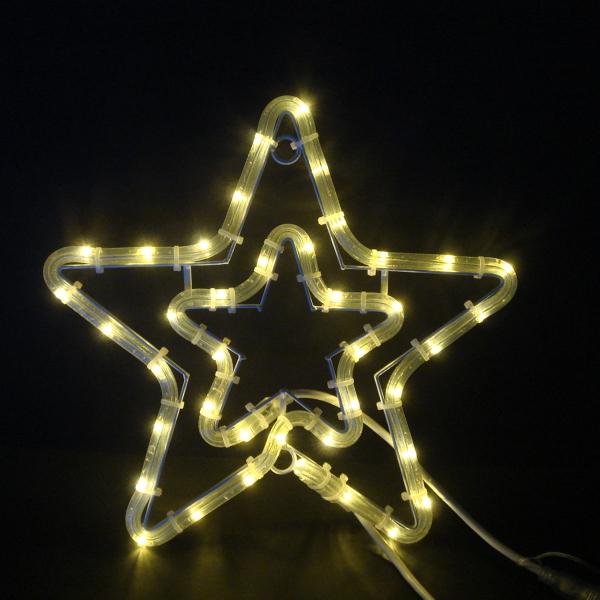 LEDイルミネーション/2Dモチーフライト LEDチューブスター 電球色/イルミネーション/クリスマス/チューブライト/コロナ産業/RCP/05P03Sep16/【HLS_DU】