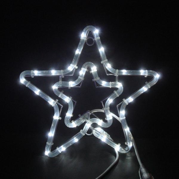 LEDイルミネーション/2Dモチーフライト LEDチューブスター 白色/イルミネーション/クリスマス/LED ホワイト/コロナ産業/RCP/05P03Sep16/【HLS_DU】