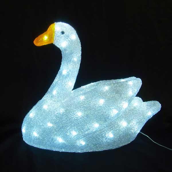 LEDイルミネーション/3Dモチーフ/3Dアニマル/モチーフライトLED スワン/イルミネーション/クリスマス/LED/コロナ産業/RCP/05P03Sep16/【HLS_DU】