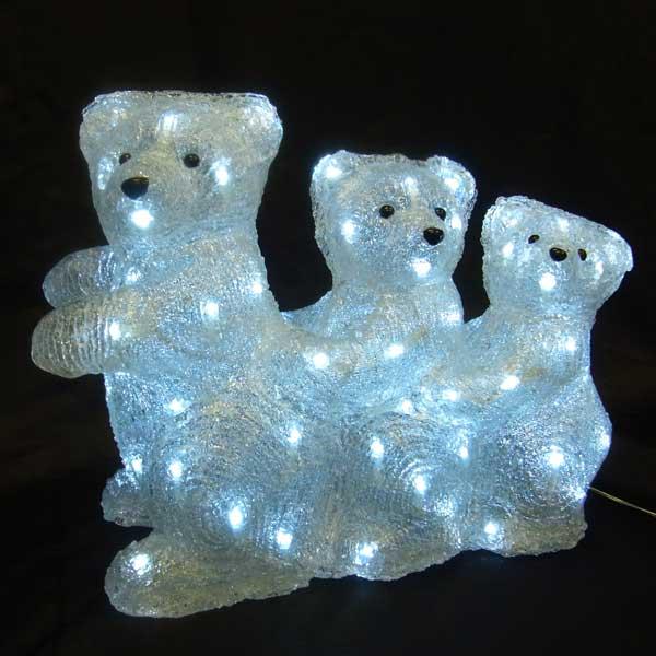 LEDイルミネーション/3Dモチーフライト LED スリーベア/イルミネーション/クリスマス/LED/コロナ産業/RCP/05P03Sep16/【HLS_DU】