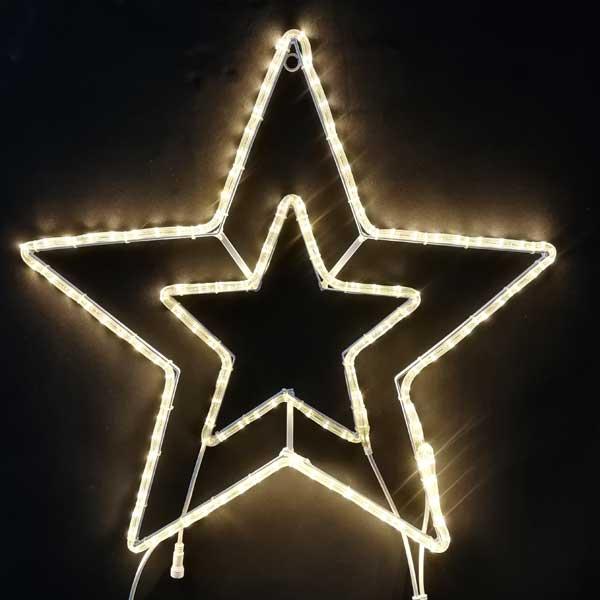 LEDイルミネーション/2Dスターモチーフ/LED スター70 電球色/イルミネーション/クリスマス/チューブライト/コロナ産業/RCP/