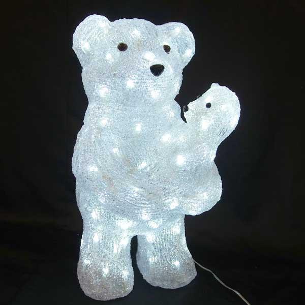 LEDイルミネーション/3Dモチーフライト LED 親子ベア/イルミネーション/クリスマス/コロナ産業/RCP