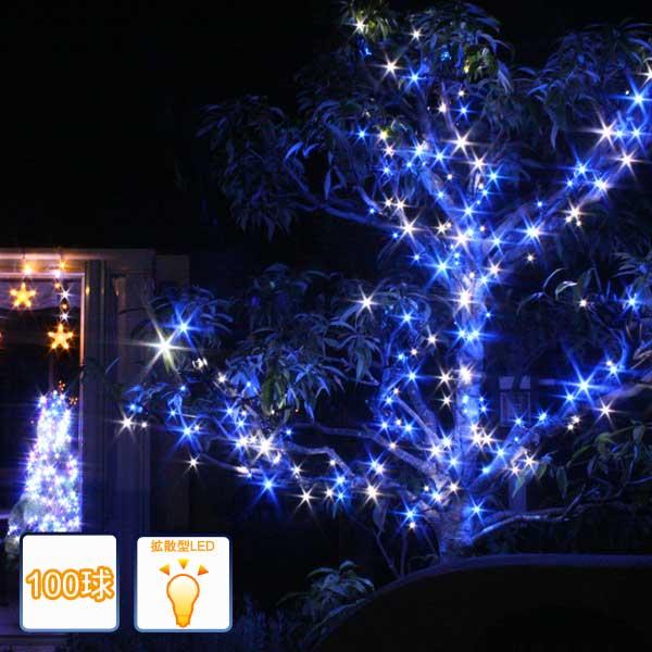 LEDイルミネーションライト/ストレートライト ホワイトブルー100球/コントローラー付/LEDブルー/LEDホワイト/イルミネーション/ledイルミネーション/コロナ産業/RCP